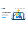 modern flat design teamwork can be used vector image vector image
