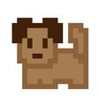 Pixel Art Brown Dog vector image vector image