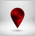 red bubble map pointer badge vector image