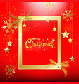 red christmas background with gold glitter vector image vector image