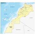 road map morocco vector image