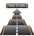 road to goal abstract way to success achievement vector image vector image