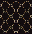 seamless golden wire scales pattern vector image vector image