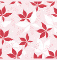 seamless pattern of chestnut leaves and branchlets vector image vector image