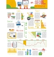 Seo infograhic report poster vector image vector image