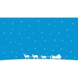 Silhouette of train Santa Christmas landscape vector image vector image