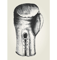 Sketch of a boxing glove vector image vector image