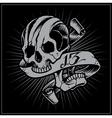 Skull and Ribbon vector image vector image
