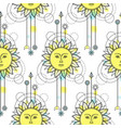 sun modern seamless pattern vector image vector image