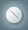tablet pill pharmacology icon on the grey vector image vector image
