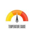 temperature gauge vector image