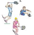 Tennis and Badminton vector image
