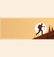 trekking action sport banner vector image