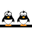 two funny bird vector image vector image