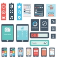 ui is a set of beautiful components featuring vector image vector image