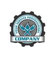 water pipe repair logo vector image