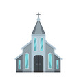 western church icon flat style vector image vector image
