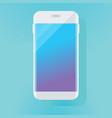 white mobile phone vector image