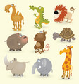 wild animals set vector image vector image