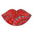 zen lip vector image vector image
