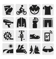 biking icon vector image