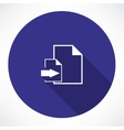 Download Document Icon vector image