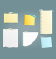 collection of different paper vector image