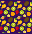 cartoon food with vitamin c background pattern vector image