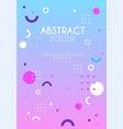 abstract poster original creative graphic design vector image vector image
