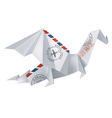 AIR MAIL Origami Dragon vector image
