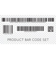 bar code icon set of modern flat barcode can be vector image vector image