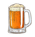 beer mug on white background vector image
