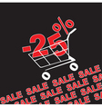 Big sale 25 percentage discount vector image vector image
