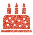 birthday cake icon grunge watermark vector image vector image
