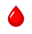 blood icon red flat drop symbol vector image