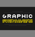 bold modern font trendy english creative vector image