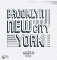 brooklyn new york city t shirt print vector image vector image