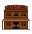 building saloon in western styles vector image