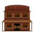 building saloon in western styles vector image