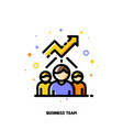 business team and chart increasing income icon vector image vector image