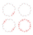 cherry blossom circle wreath collection eps10 vector image vector image