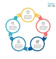 Circular infographics Business diagram with 5 vector image vector image