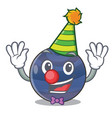 clown picture neptune planet in cartoon form vector image vector image