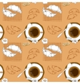 Coffee and pastry seamless pattern vector image vector image