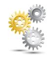 Cog wheel gear emblem vector image vector image