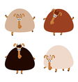 Collection of sheep vector image