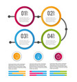 data infographic business information success vector image vector image