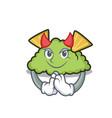 devil guacamole mascot cartoon style vector image vector image