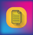 document icon paper sheet vector image vector image