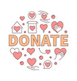 donate creative round vector image vector image